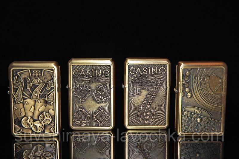 Бензиновые зажигалки на тематику казино