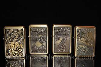 Бензинові запальнички на тематику казино