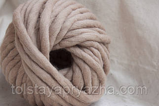 Товста пряжа ручного прядіння Elina Tolina 100% вовна (оброблена) натюрель, фото 2