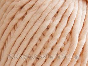 Толстая пряжа ручного прядения  Elina Tolina 100% шерсть (обработана) персик, фото 3