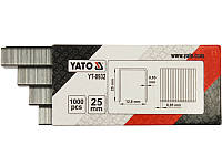 Скобы для пневмостеплера 25х12,8мм Yato YT-0932