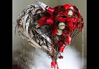"Композиция ""Сердце"" - подарок ко дню св. Валентина."