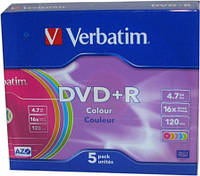 DVD+R Verbatim 4.7Gb 16x Slim Color