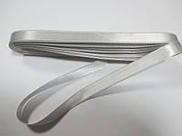 Стрічка атласна  двостороння 1 см. (10 метрів) світло-сірий