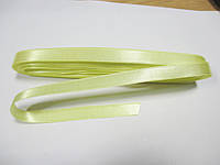 Стрічка атласна  двостороння 1 см. (10 метрів) жовта лимонна Н-81