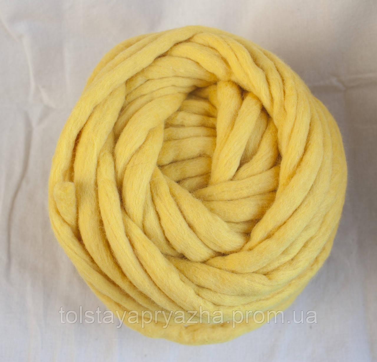 Товста пряжа ручного прядіння Elina Tolina 100% вовна (оброблена)