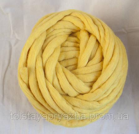 Товста пряжа ручного прядіння Elina Tolina 100% вовна (оброблена), фото 2