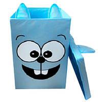 """Ящик для игрушек с крышкой """"Заяц"""" HTKK-2525-004 Украинская Оселя, 25*25*38"""