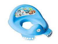 Детская накладка на унитаз антискользящая Cars CS-002 Tega Baby, синяя