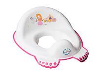 Детская накладка на унитаз антискользящая Little Princess LP-002 Tega Baby, белая