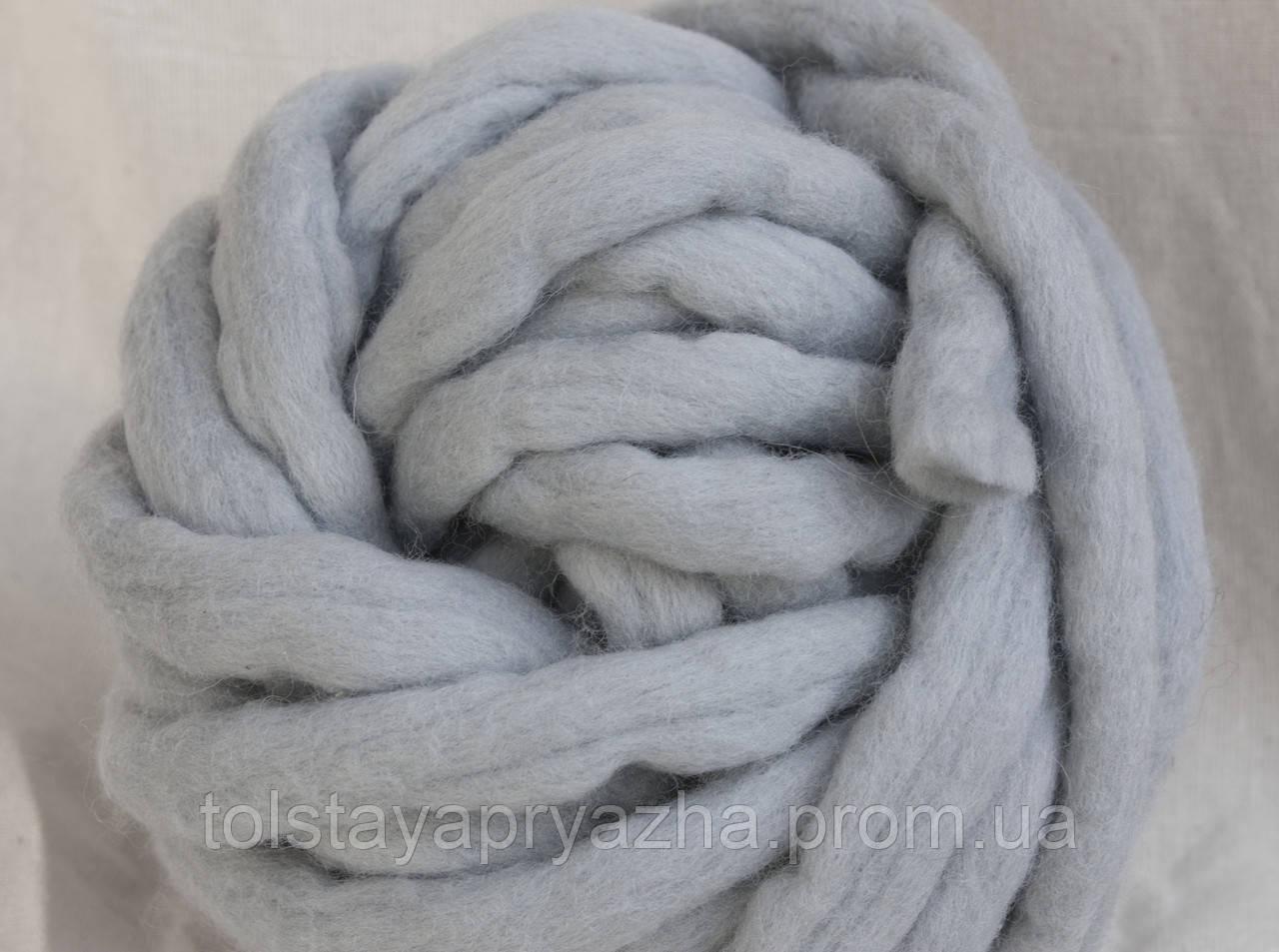 Толстая пряжа ручного прядения Elina Tolina  100% шерсть (обработана), перламутр