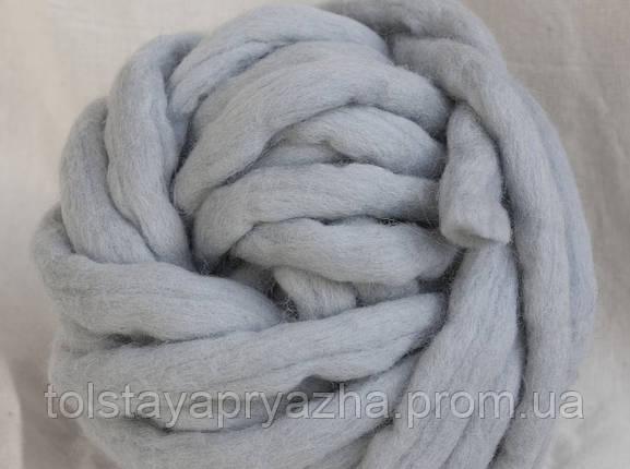 Толстая пряжа ручного прядения Elina Tolina  100% шерсть (обработана), перламутр, фото 2