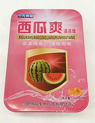Леденцы для горла от кашля 16шт уп (вкус мяты, миндаль и вкус арбуза) металическая коробка