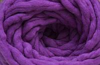 Толстая пряжа ручного прядения 100% шерсть (обработана) аметист