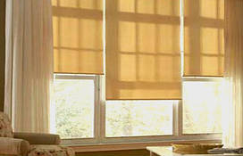 """Тканевые рулонные шторы """"Oasis"""" сатин"""