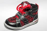 Kellaifeng (KLF) арт.LK1163-1 black-red.fashion     Демисезонные ботинки для мальчиков.