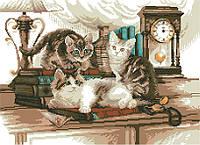 Канва с нанесенным рисунком Котята