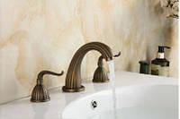 Смеситель для умывальника кран двухвентильный для ванной, фото 1