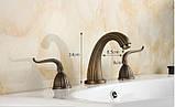 Смеситель для умывальника кран двухвентильный для ванной, фото 3