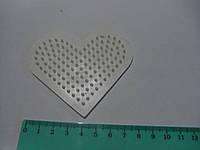 Поле Hama для термомозаики сердце