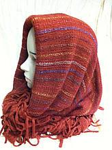 Ажурный снуд  три в одном шарф ,головной убор и жилетка