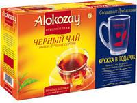 Чай Алокозай чёрный 100 пакетов по 2гр + кружка в подарок