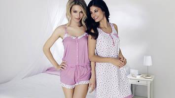 Пижамы,ночные рубашки,халаты