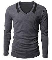 Пуловер мужской из трикотажной ткани серый