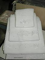 Полотенце махровое для лица белое Melis ЕКЕ