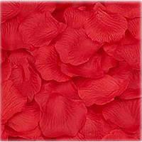 Искусственные свадебные красные лепестки роз (150 шт.)
