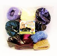 Резинка для волос цветная Калуш-12 шт.- Ø 3,0 см.* ширина 3,0 см.