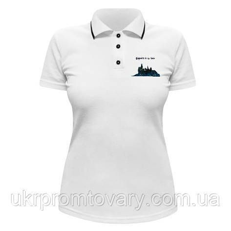 Женская футболка Поло - Гарри Поттер, отличный подарок купить со скидкой, недорого, фото 2