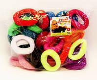 Резинка для волос цветная Калуш-30 шт.- Ø 4,0 см.* ширина 2,0 см.