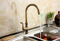 Смеситель кран на кухню для мойки бронза 0092, фото 1