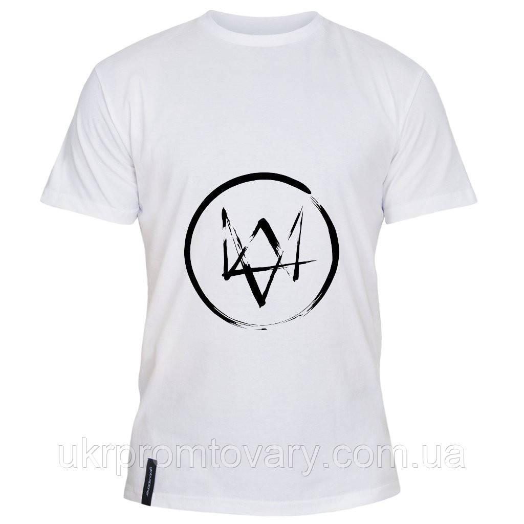 Мужская футболка - Watch dogs, отличный подарок купить со скидкой, недорого