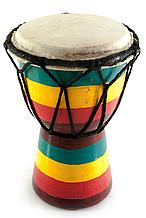 Барабан джембе цветной