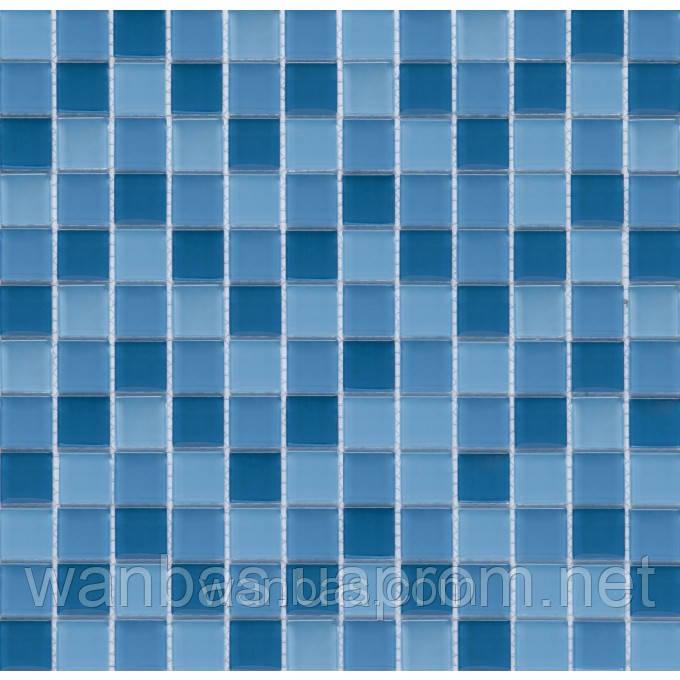 Микс прозрачное стекло 2,5х2,5 см СМ  MIX  02