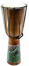 Барабан расписной деревянный