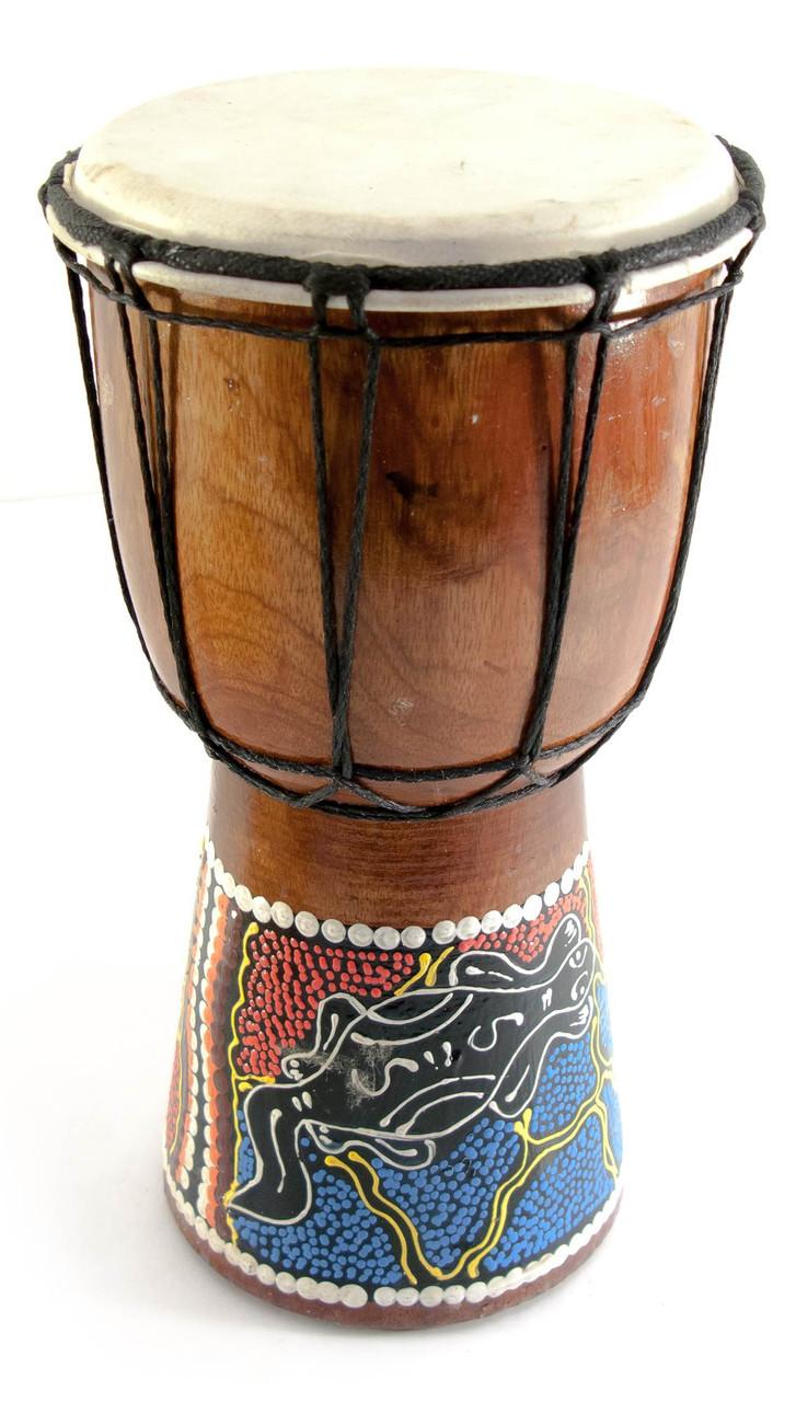 Расписной барабан дерево