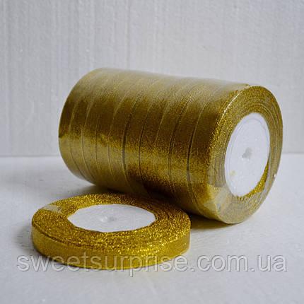 Лента парчовая 12 мм. (золото), фото 2