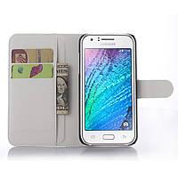 Чехол IETP для Samsung Galaxy J5 2015 J500 книжка кожа PU белый, фото 1