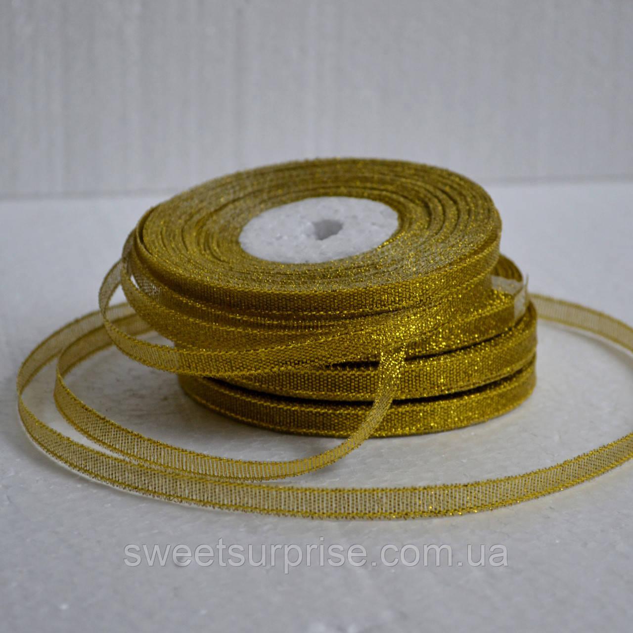 Лента парчовая 6 мм. (золото)