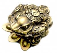 Жаба богатства на монетах  под бронзу