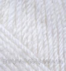 Пряжа, нитки для вязания Харизма ( Charisma) YarnArt 100 гр., 200 м,  шерсть 80%, біла натуральна № 501