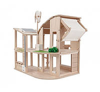 """Деревянная игрушка """"Зелёный кукольный домик"""", PlanToys"""