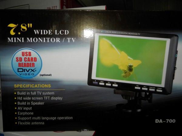 "Телевизор LCD 7.5"" USB  ДУ  DA-700"