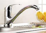Смеситель кран кухонный однорычажный на кухню для мойки 0094, фото 2