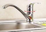 Смеситель кран кухонный однорычажный на кухню для мойки 0094, фото 3
