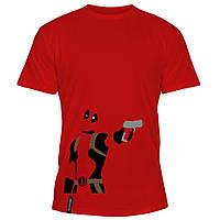 Мужская футболка - Deadpool shot, отличный подарок купить со скидкой, недорого