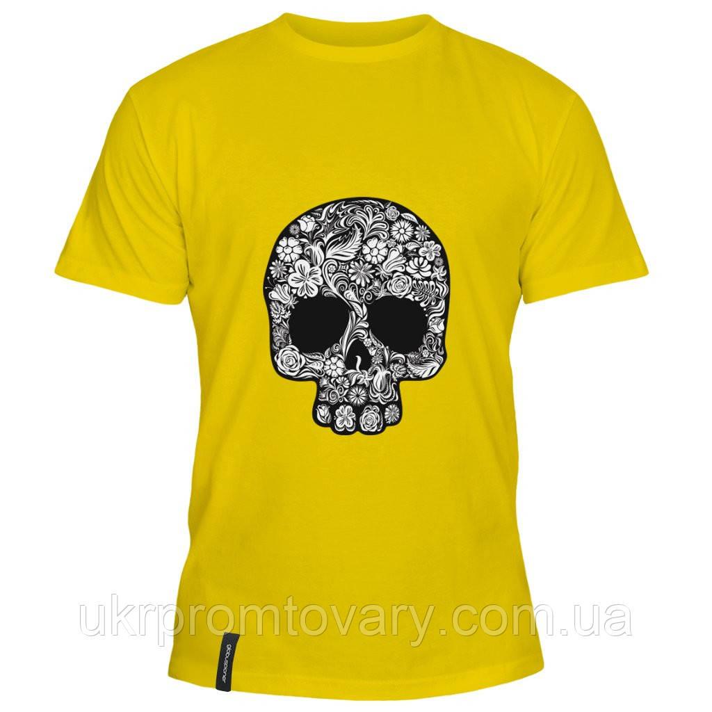Мужская футболка - Черепушка, отличный подарок купить со скидкой, недорого